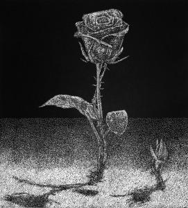Róża. Linoryt
